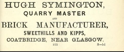 Hugh Symington brickmaker sweethills kipps