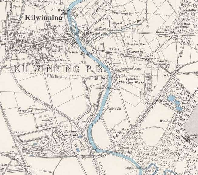 OS Map Eglinton Fireclay Works 1897