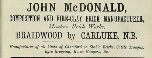 1886 John McDonald Braidwood Carluke