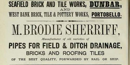 1886 brodie sherriff seafield dunbar westbank portobello