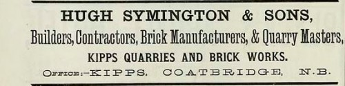 1886 hugh symmington kipps quarries coatbridge