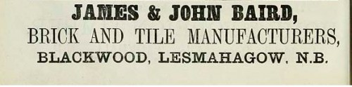 1886 john and james baird blackwood lesmahagow