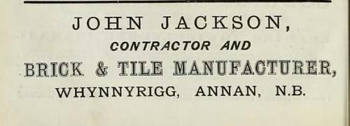 1886 john jackson whynnyrigg annan