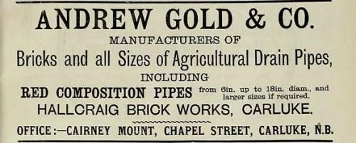 andrew gold hallcraig carluke 1886