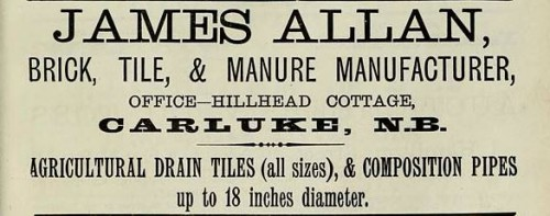 james allan carluke 1886 advert