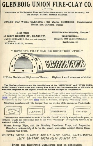 1915 glenboig unuin fire clay advert