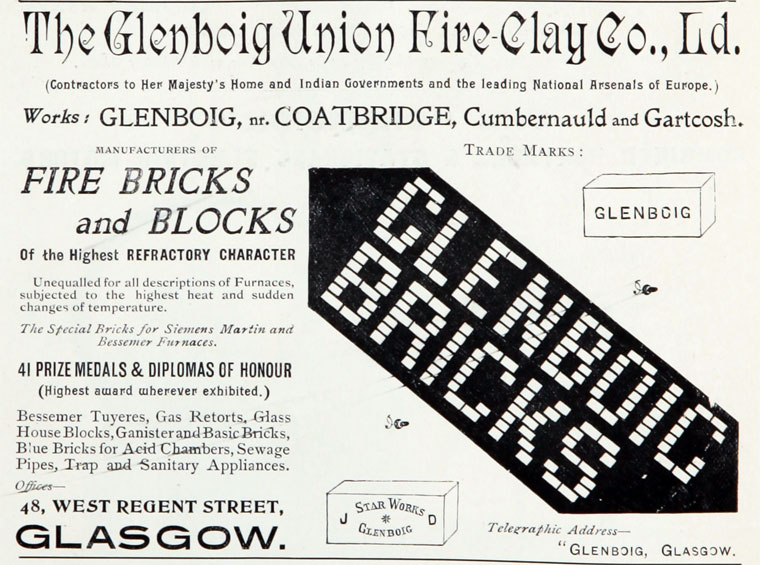 Glenboig advert 1899