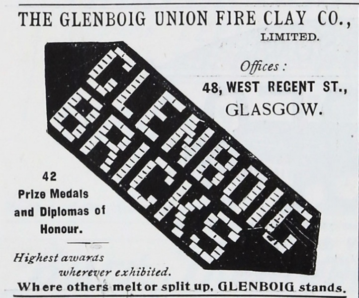 Glenboig advert 1901