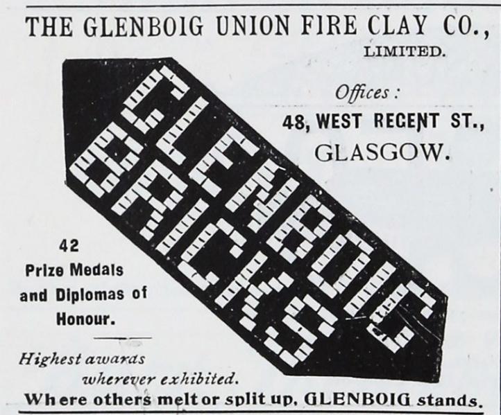Glenboig advert 1901
