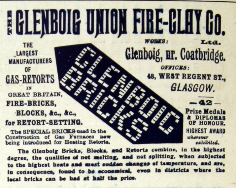 Glenboig advert 1903