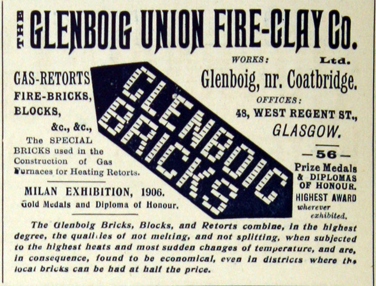 Glenboig advert 1909