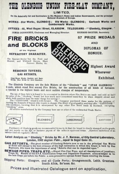 Glenboig advert 1912.
