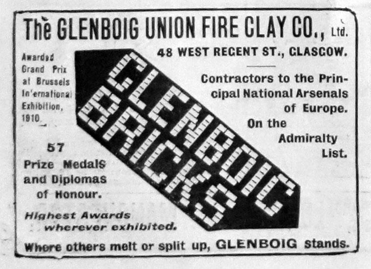 Glenboig advert 1912