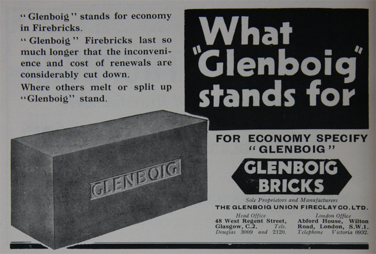 Glenboig advert 1932