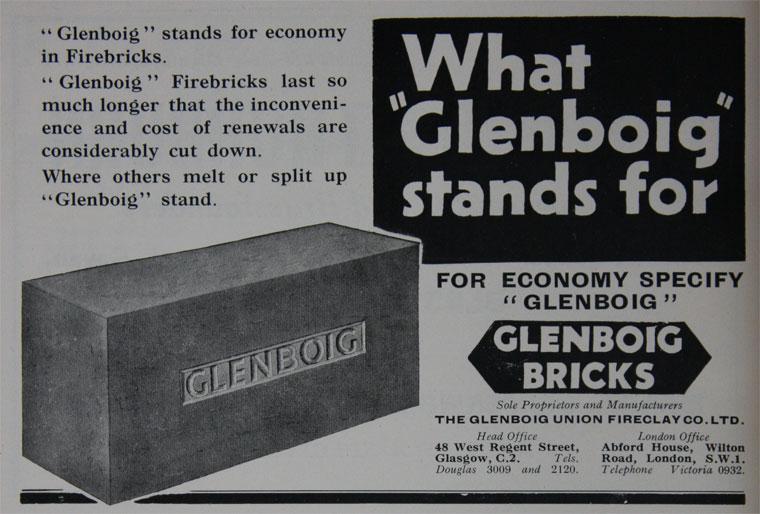 Glenboig advert 1932