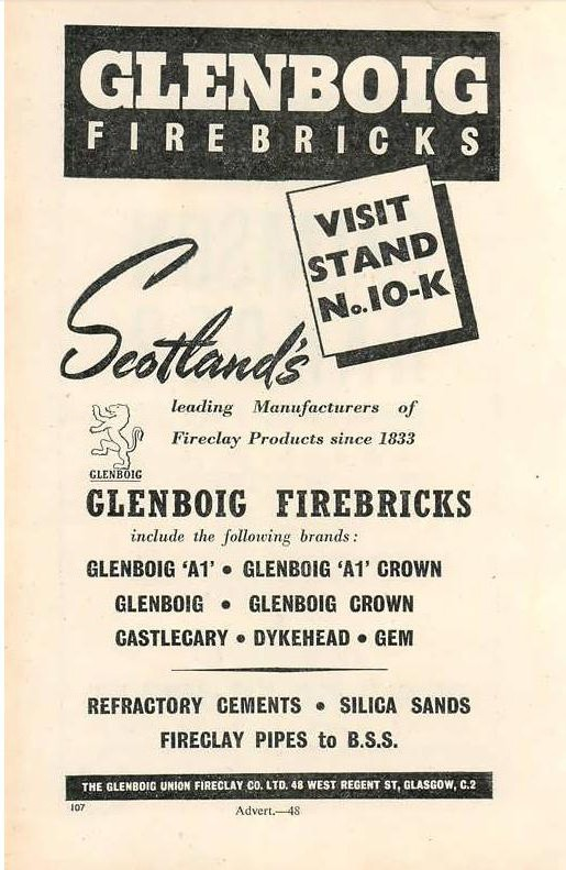 Glenboig advert 1949