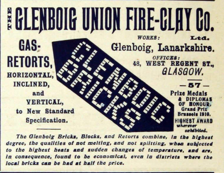 Glenboig advert August 1912