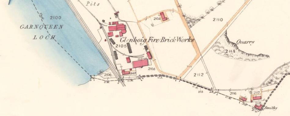 OS Map 1858 - Glenboig Firebrick Works