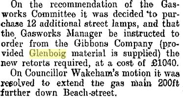 Petone , New Zealand purchase Glenboig retorts 1904
