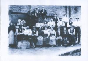 Workers at Glenboig  Old Works 1913