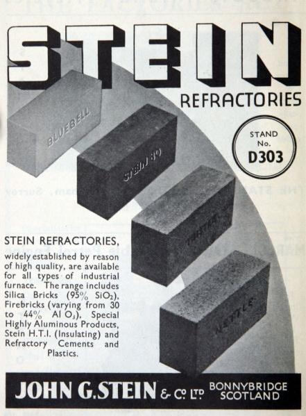Stein refractory advert
