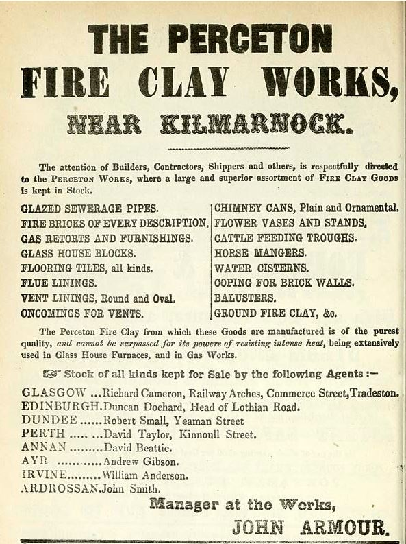 1861 Perceton Fire Clay Works near Kilmarnock