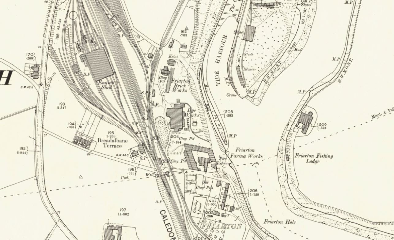 1901 - OS Map Friarton Brick and Tile Works, Perth