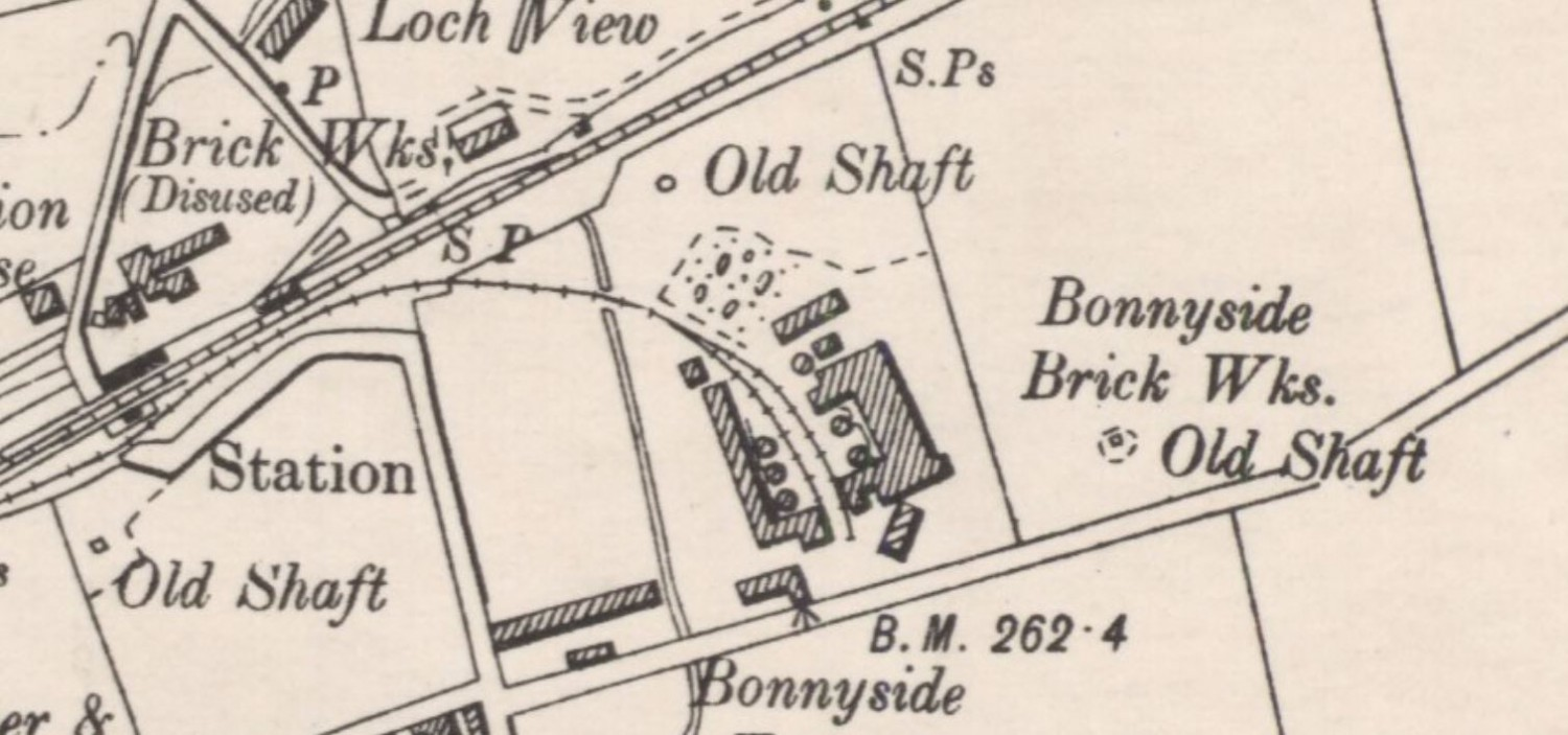 Below - OS Map 1896 - Bonnyside Brick Works