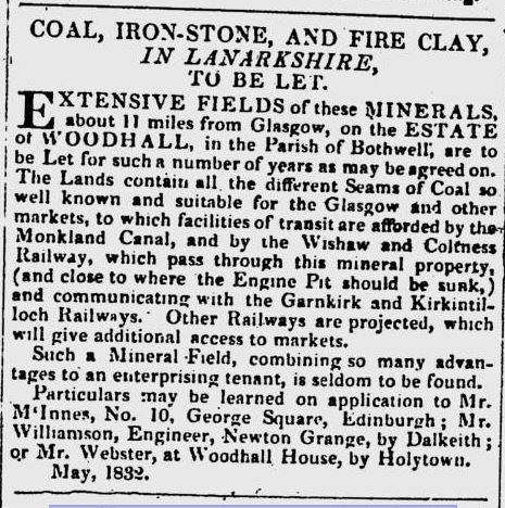 Woodhall Estates Clay deposits 1832