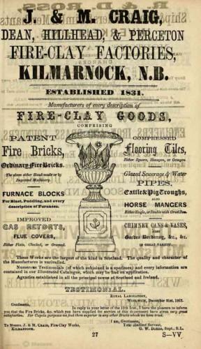 1867 j & m craig dean perceton hillhead kilmarnock