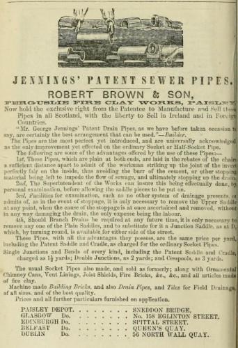 1868 Robert Brown Ferguslie Jenninhs