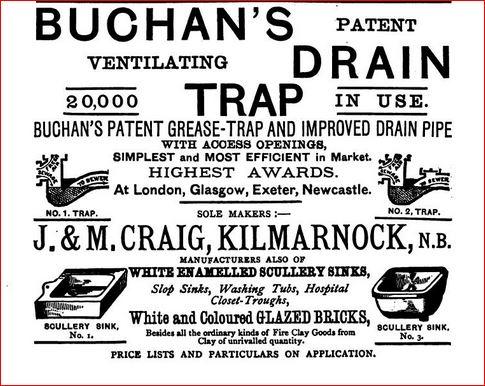 Buchans drain traps. J & M Craig
