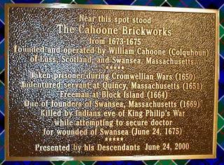 Calhoone Brickworks 1673 - 1675
