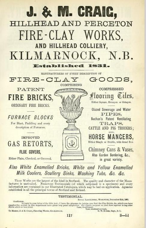 J & M Craig Hillhead Perceton Kilmarnock advert