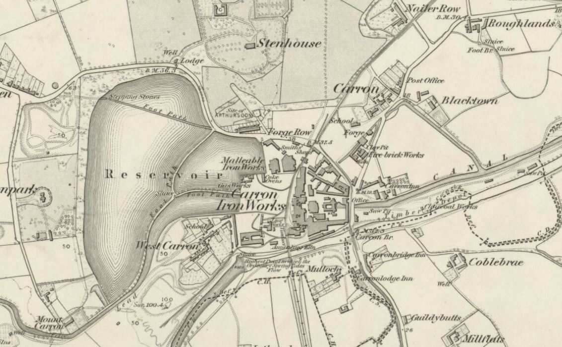 OS Map Carron Brickworks 1861