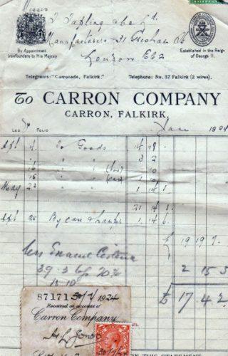 carron company invoice
