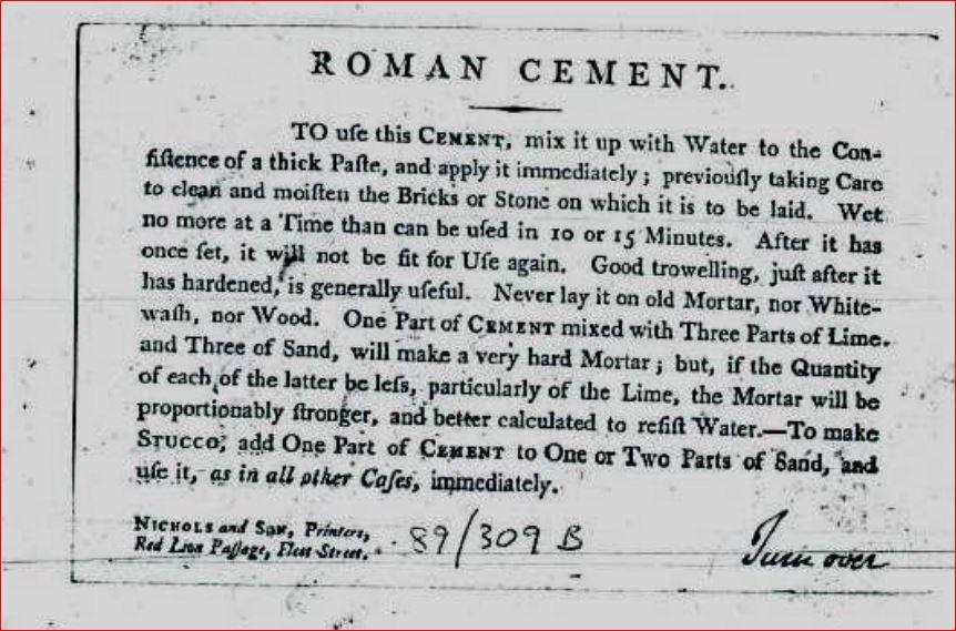 Roman Cement advert