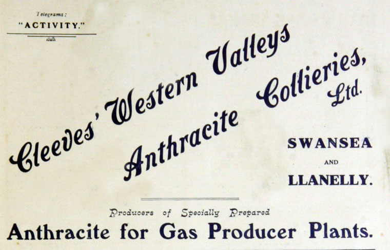 Cleeves Western Valleys Anthracite Collieries