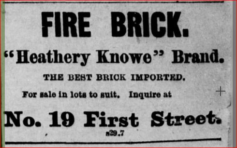 Heathery Knowe fire brick Daily Alta California 5th October 1876