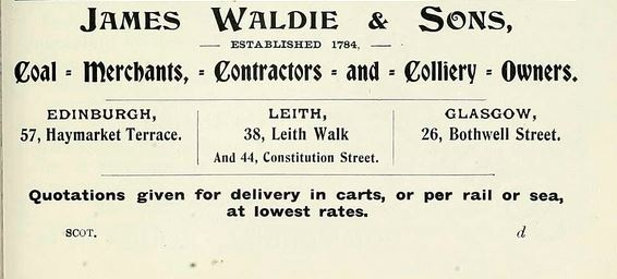 James Waldie & Sons advert 1903