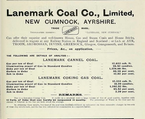 Lanemark Coal Company 1903 Advert