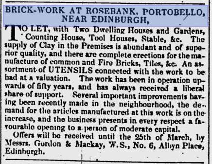 rosebank brick works portobello