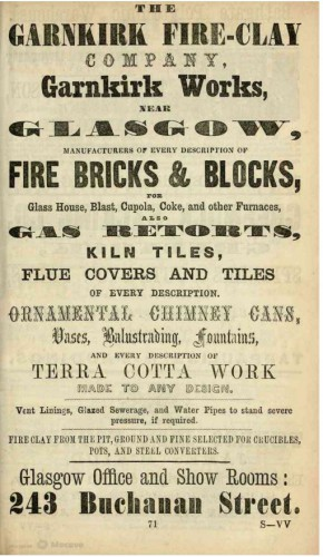 1867 Garnkirk fire clay co Glasgow