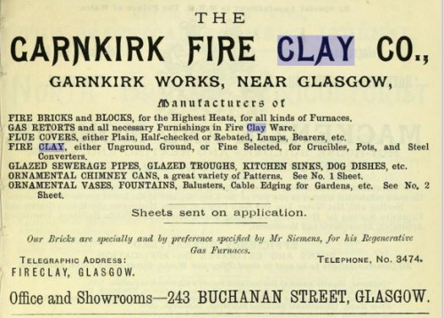 1893 Garnkirk fire clay co