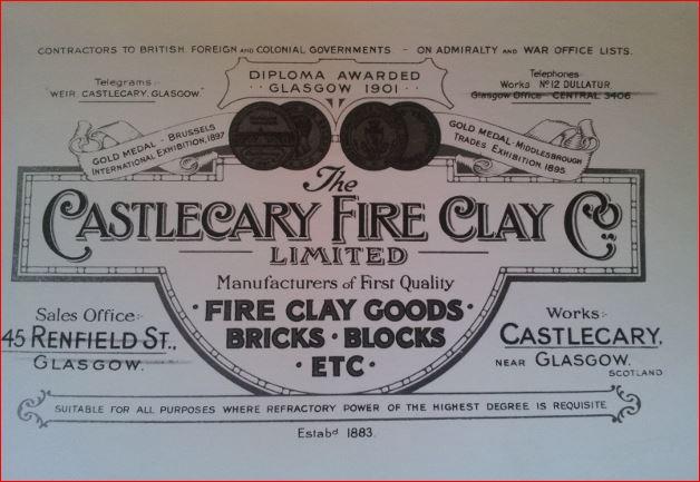 Castlecary Fireclay Limited letterhead trademark