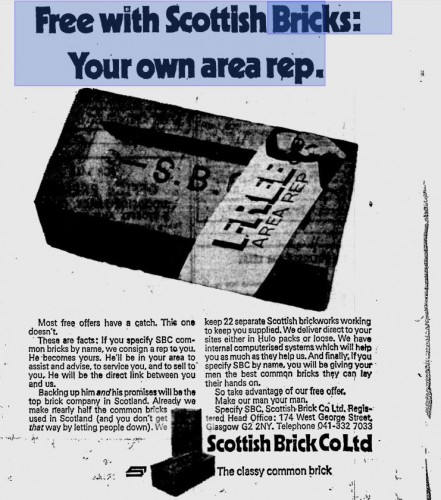 scottish brick co advert