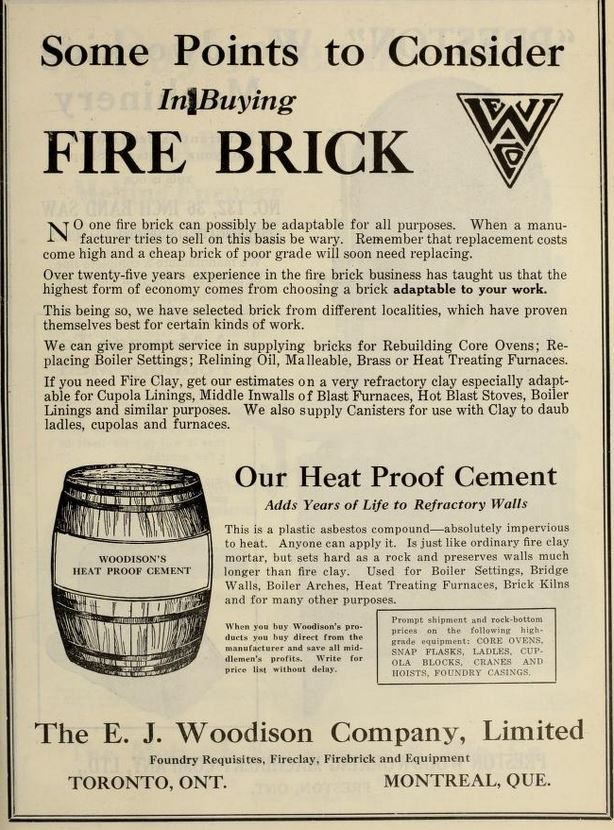 Woodison firebricks