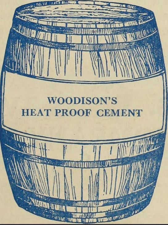Woodison heat proof cement