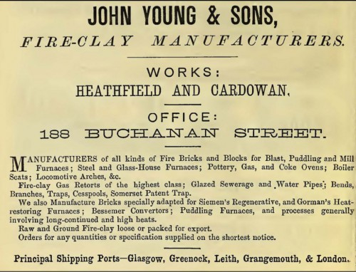 1875 John Young and Sons, Heathfield and Cardowan