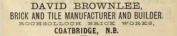 Brownlee brickmaker, coatbridge, rochsolloch